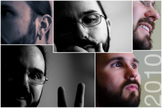 Andy Ciordia, bearded and reflective